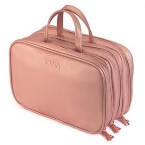 Zoeva Rose Gold Faux Leather Makeup Bag Travel